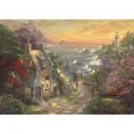 Schmidt-Spiele-59482 Thomas Kinkade - Le Cottage et le Phare