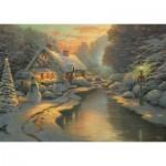 Schmidt-Spiele-59492 Thomas Kinkade - La Veille de Noël