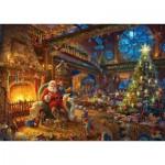 Schmidt-Spiele-59494 Thomas Kinkade - Santa Claus and His Secret Helper