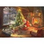 Schmidt-Spiele-59495 Thomas Kinkade - Le Père Noël est là!