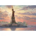 Schmidt-Spiele-59498 Thomas Kinkade - Statue de la Liberté au Crépuscule