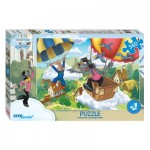Step-Puzzle-78089 Le Lapin et le Loup