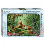 Step-Puzzle-79528 Tigre dans la jungle