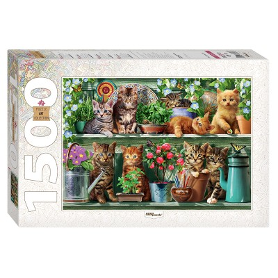 Step-Puzzle-83057 Chatons sur l'Etagère