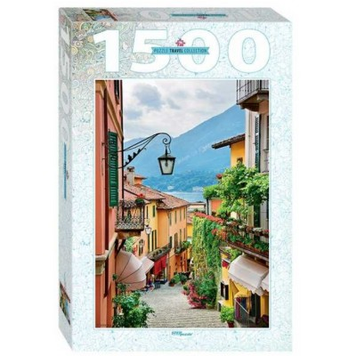 Step-Puzzle-83065 Street view in Bellagio and lake Como, Italy