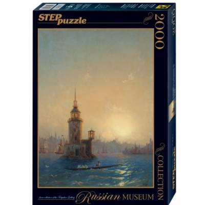 Step-Puzzle-84202 Russian Museum - Ivan Aivazovsky - View of Leandrovsk tower in Constantinople