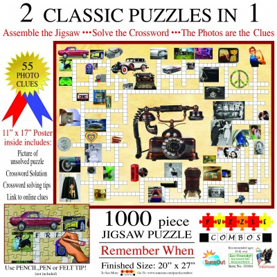 Sunsout-10164 Irv Brechner - Puzzle Combo: Remember When