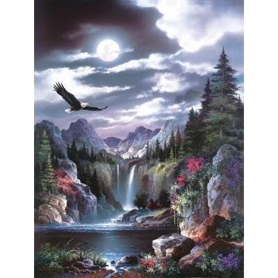 Sunsout-18005 Pièces XXL - James Lee - Moonlit Eagle