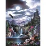 Sunsout-18048 James Lee - Moonlit Eagle