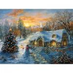 Sunsout-19224 Pièces XXL - Christmas Cottage