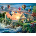 Sunsout-19285 Nicky Boehme - Balloons Over Sunset