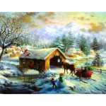 Sunsout-19319 Nicky Boehme - Over the Covered Bridge