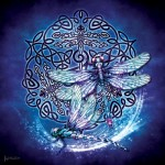 Sunsout-20109 Brigid Ashwood - Celtic Dragonfly