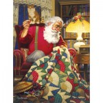 Sunsout-23328 Tom Newsom - Quilting Santa