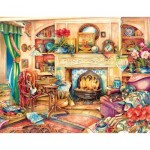 Sunsout-23447 Kim Jacobs - Fireside Embroidery