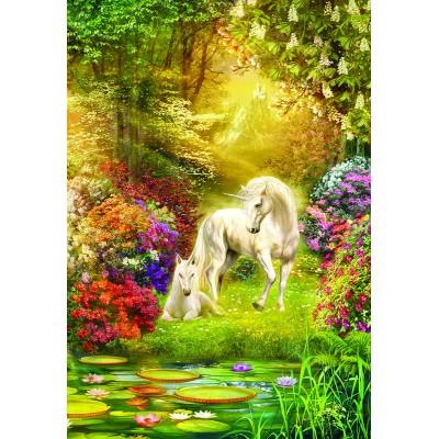 Sunsout-24415 Enchanted Garden Unicorns