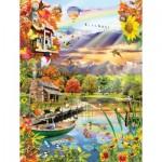 Sunsout-25038 Lori Schory - Autumn Lake