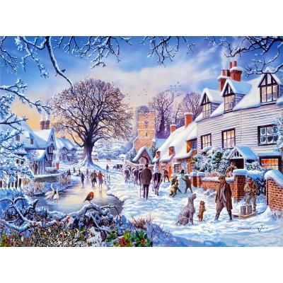 Sunsout-25974 Steve Crisp - A Village in Winter