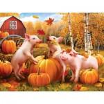 Sunsout-28657 Pièces XXL - Pigs & Pumpkins