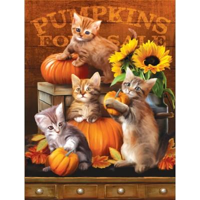 Sunsout-28762 Pièces XXL - Autumn Kitties