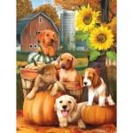 Sunsout-28767 Pièces XXL - Autumn Puppies