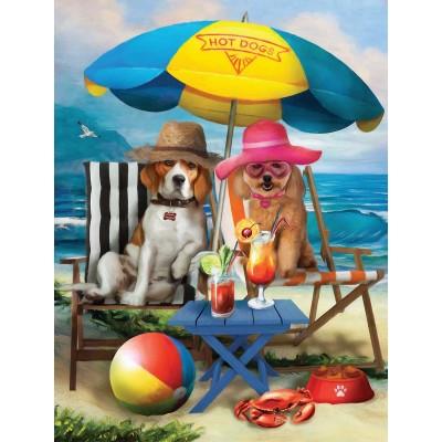 Sunsout-28884 Pièces XXL - Beach Dogs