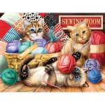 Sunsout-28935 Tom Wood - Kitties Fun Time