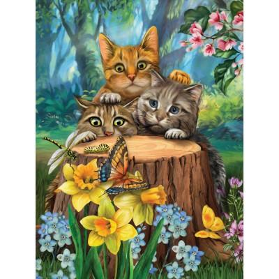 Sunsout-28948 Pièces XXL - Tom Wood - Fraidy Cats
