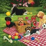 Sunsout-30476 William Vanderdasson - Puppies take over