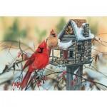 Sunsout-30624 Janene Grende - Cardinal's Rustic Retreat