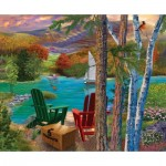 Sunsout-31514 Bigelow Illustrations - Lakeside View