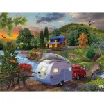 Sunsout-31517 Bigelow Illustrations - Campers Coming Home