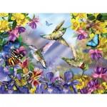 Sunsout-34919 Pièces XXL - Butterflies & Hummingbirds