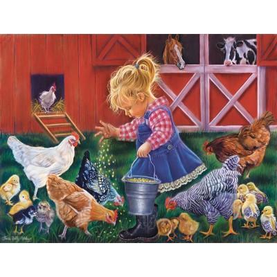 Sunsout-35886 Pièces XXL - Little Farm Girl