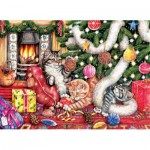 Sunsout-36452 Debbie Cook - Cats and Baubles