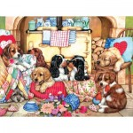 Sunsout-36456 Pièces XXL - Puppies in the Kitchen