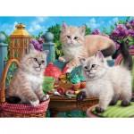 Sunsout-42909 Kitten Tea Party