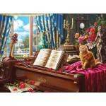 Sunsout-42936 Grand Piano Cat