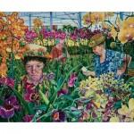 Sunsout-44272 Susan Brabeau - Orchids with Mantis