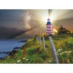 Sunsout-45701 Michael Blanchette Photography - Night over West Quoddy Lighthouse