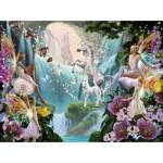 Sunsout-47230 Garry Walton - Unicorn and Fairy