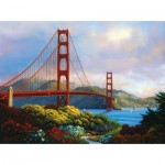 Sunsout-48505 Charles White - Morning at the Golden Gate
