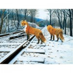 Sunsout-48831 Pièces XXL - Fox Tracks