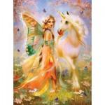 Sunsout-49006 Bente Schlick - Fairy Princess and Unicorn