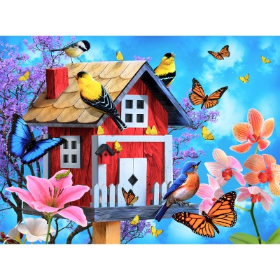 Sunsout-49044 Jerry Gadamus - Red Birdhouse