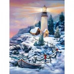 Sunsout-49152 Sandra Bergeron - Christmas Lighthouse
