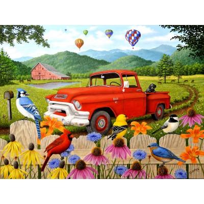 Sunsout-51304 Robert Wavra - The Red Truck