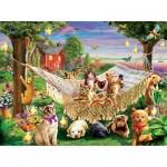 Sunsout-51830 Pièces XXL - Kittens Puppies and Butterflies