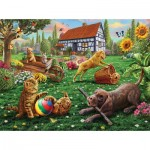Sunsout-51884 Adrian Chesterman - Dogs and Cats at Play