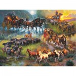 Sunsout-52948 Mark Keathley - Wagon Trails